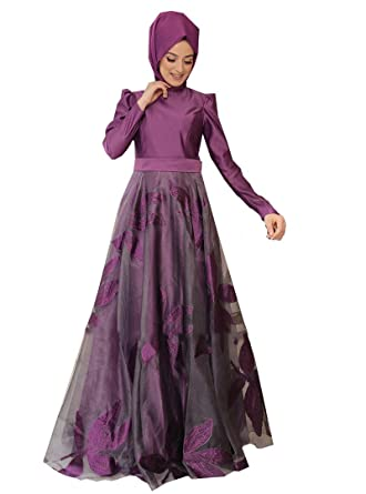 65fae928ca Night Blue Collection Turkish Muslim Evening Modesty Dress Long Sleeves Fully  Lined - Crew Neck (