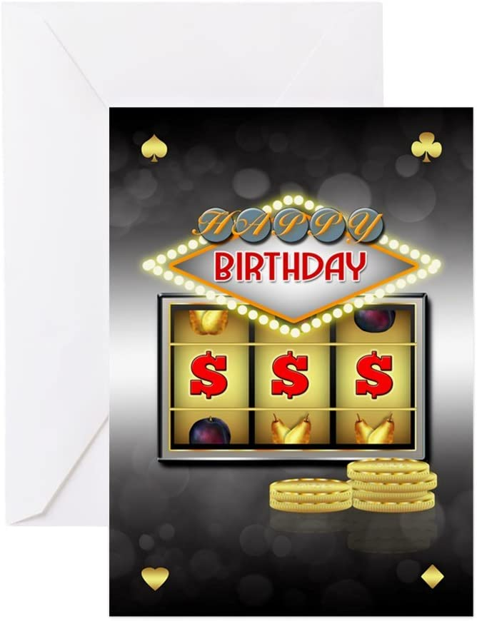 Amazon.com : CafePress Birthday Greeting Card Casino Theme ...