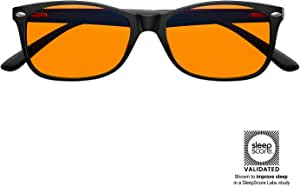 Swanwick: Classic Night Swannies - Premium Blue Light Blocking Glasses - Orange Tint for Superior Blue Light Blocking from Gaming PC, Laptop and Smartphone Screen Glare - Sleep Support