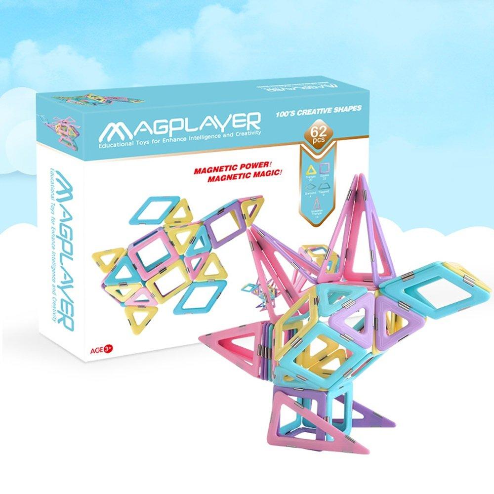 【一部予約販売】 62磁気形状 B07FCTMP7C磁気ビルディングブロック|付属の取扱説明書|磁気建物子供のおもちゃ|幼児と子供のための教育玩具| 62磁気形状 B07FCTMP7C, トウマチョウ:56982531 --- svecha37.ru