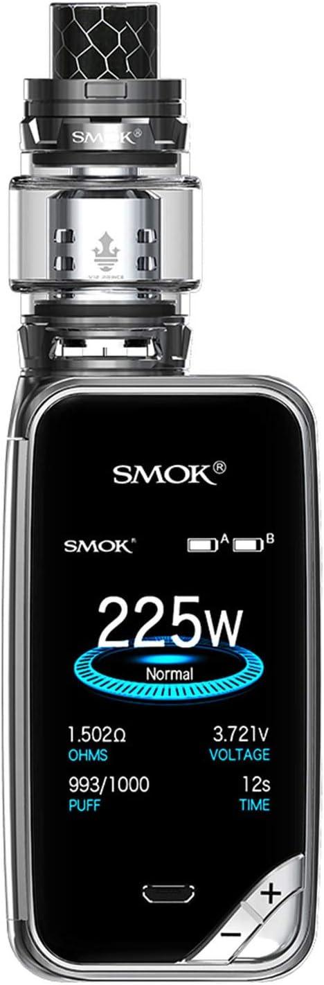 SMOK X PRIV Kit 225W TFV12 Prince 8mL Tank E Cigarette Starter Kit - Incluye el llavero BTKSY - sin nicotina - sin aceite (Prism Gun Mental)