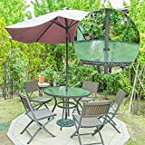 Bememo 2 Inch Patio Table Umbrella Hole Ring and