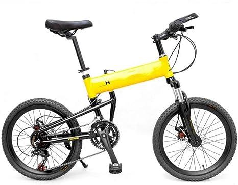 WEYQ Bicicleta Plegable BMX Aviación Marco de aleación de Aluminio ...
