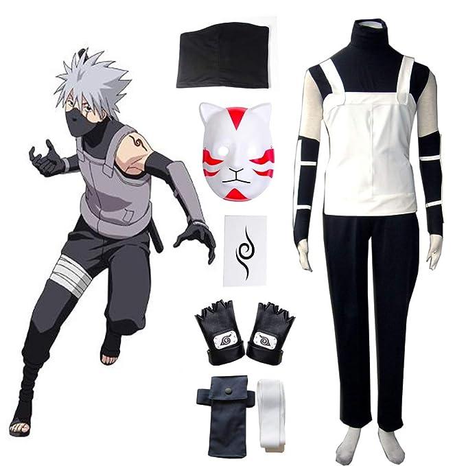 Amazon.com: Disfraz de anime japonés Naruto Hatake Kakashi ...