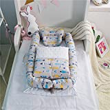 Ukeler Baby Snuggle Nest with Baby Quilt Surround Extra-Long Portable Infant Cribs for Travel- Breathable & Hypoallergenic Co-Sleeping Baby Bed