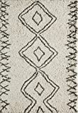 Momeni Rugs MAYA0MAY-1IVY2030 Maya Collection, Ultra Thick Pile Shag Area Rug, 2' x 3', Ivory
