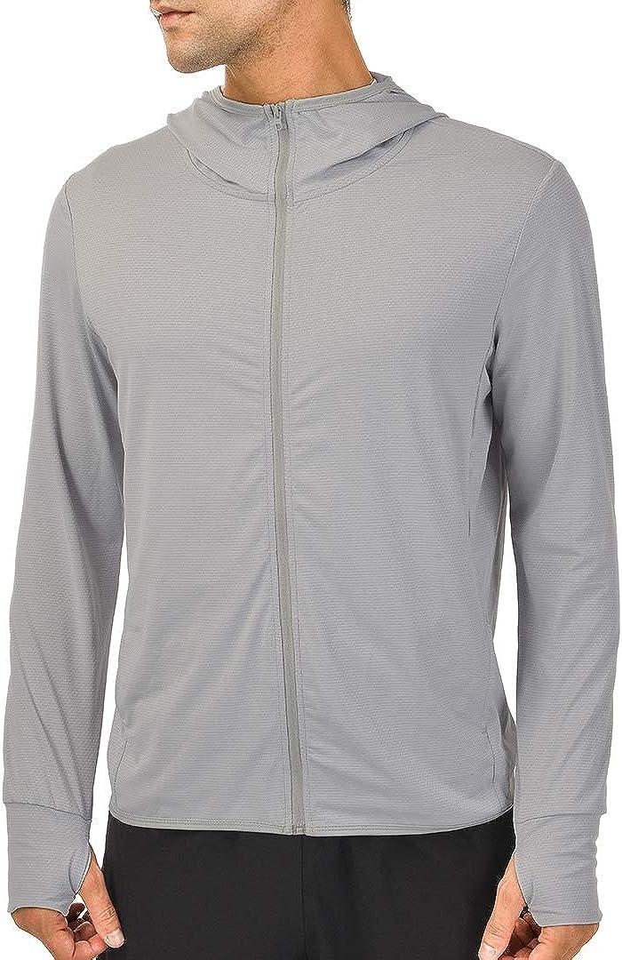 qualidyne Men's UV Sun Protection Hoodie Zip-up Long Sleeve Hiking Jacket Outdoor UPF 50+ Performance Running Fishing Shirt