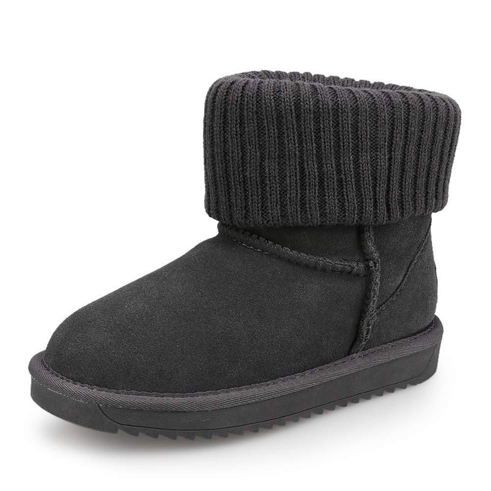 Super frist Girls Outdoor Suede Warm Snow Boots Non-Slip Comfortable Waterproof Winter Boots