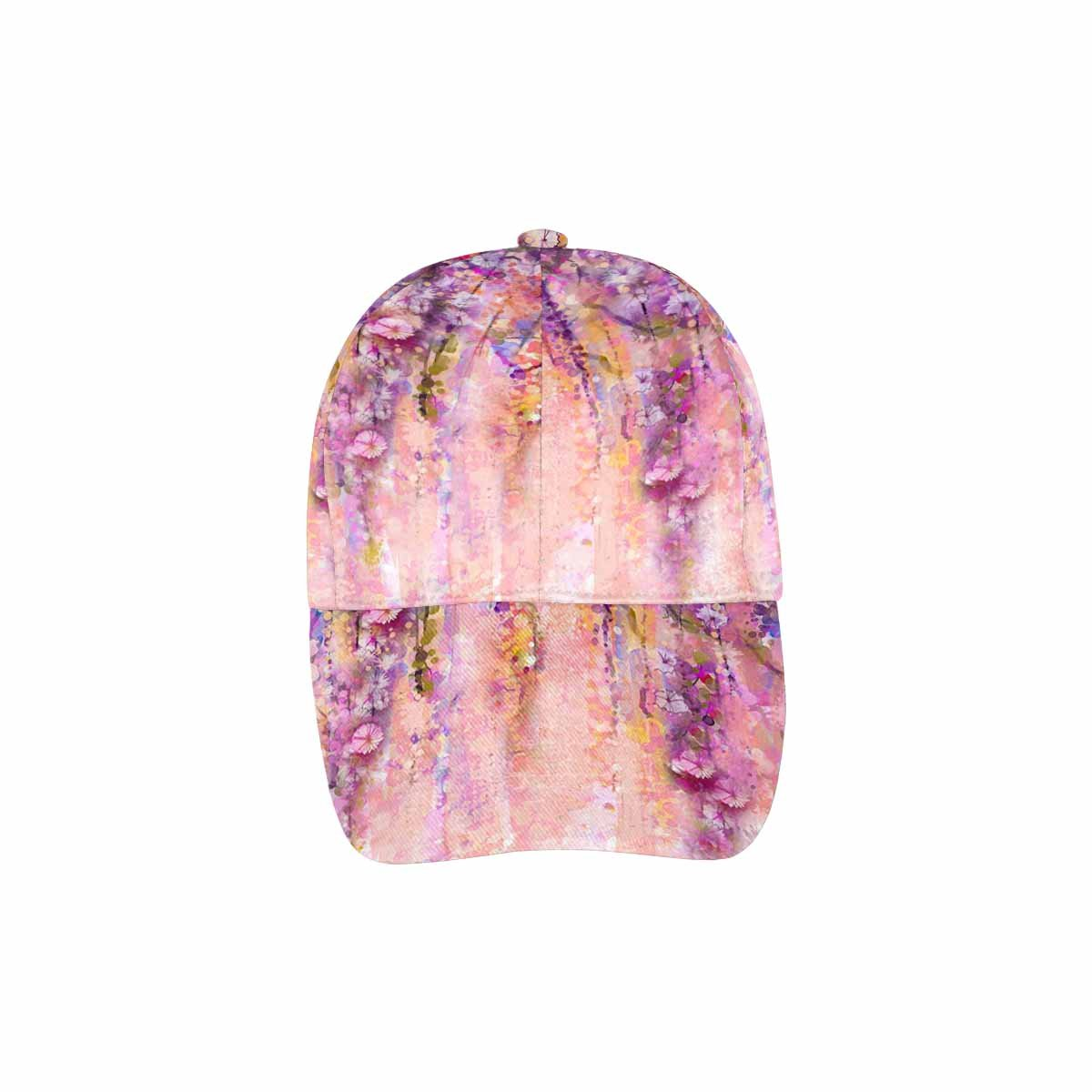 InterestPrint Unisex Baseball Cap Hip Hop Adjustable Hat Spring Purple Flowers Wisteria Bokeh Background