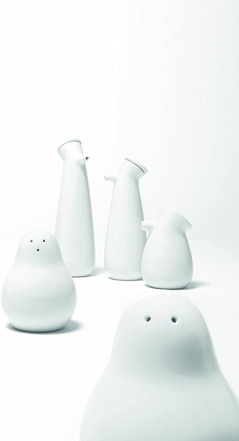 Authentics Snowman 20020 Sali/ère et poivri/ère en Porcelaine Blanc