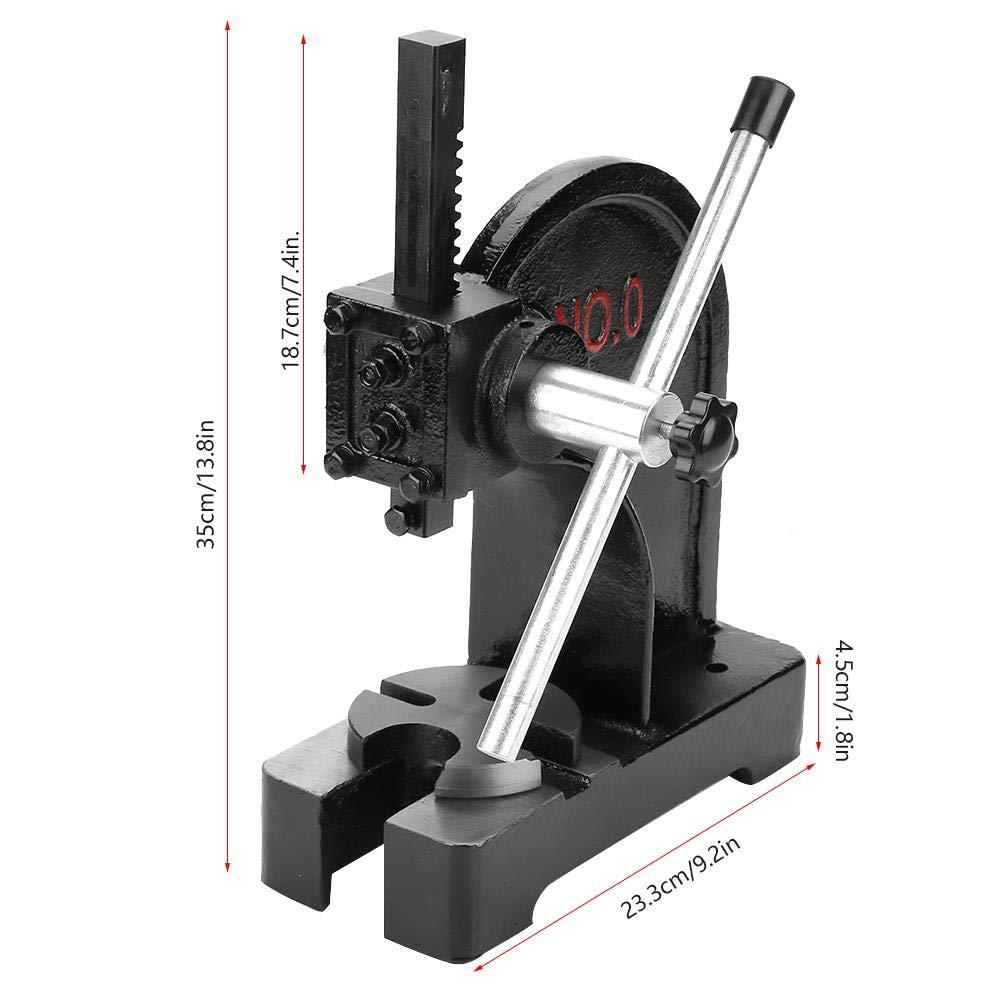 0.5T Arbor Press, Manual Desktop Punch Press Machine Metal Arbor Press Tool by Yosoo (Image #7)
