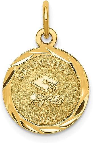 14K Yellow Gold Graduation Day Charm