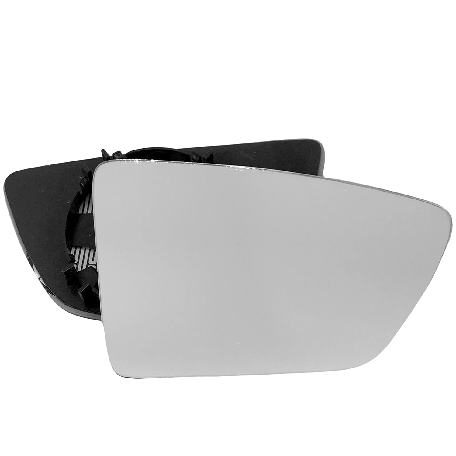 For Seat Leon 2013-2016 Driver right hand side wing door mirror convex glass heated with backing plate