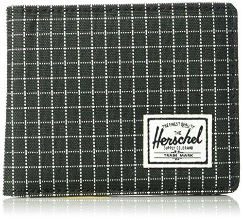 Men's Co Supply Black Wallet Leather Black Grid Herschel Synthetic pfERxnd