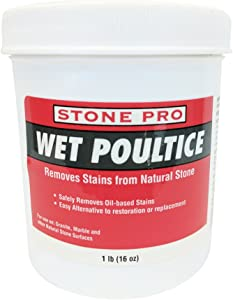 Stone Pro Wet Poultice - Removes Stains From Natural Stone - 1 Pound