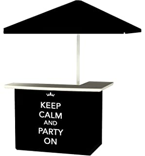 Best Of Times Portable Standard Bar Table, Keep Calm And Party On