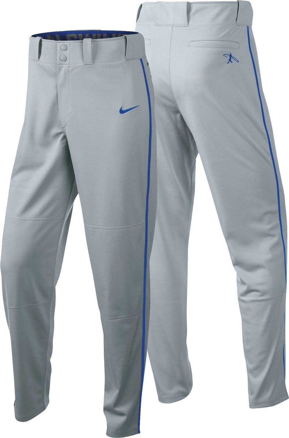Nike Boys Swingman Dri-FIT Piped Baseball Pants (Grey/Royal, Large) by Nike (Image #1)