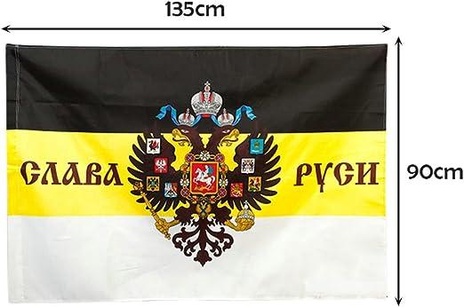 Seasaleshop bandera nacional, bandera Imperial ruso negro amarillo blanco Variété de Options 90 x 135 cm (bolsa OPP), Un mot: Amazon.es: Jardín