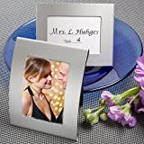 84 Matte Silver Metal Curved Place Cards / Photo Frames