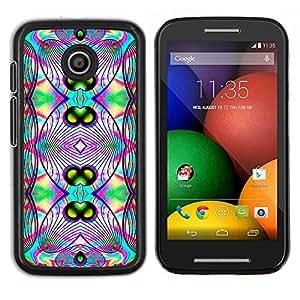 - Acid Trip Psychedelic Trippy Neon/ Duro Snap en el tel??fono celular de la cubierta - Cao - For Motorola Moto E (1st Gen, 2014)