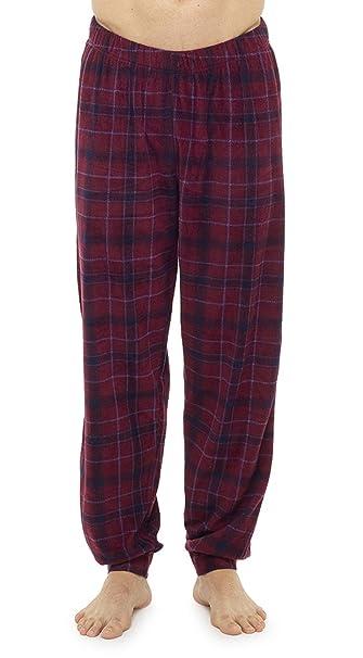 Aumsaa - Pantalón de Pijama - para Hombre Rojo Rosso Medium