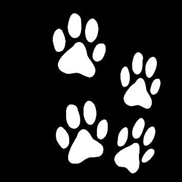 Finest Folia 12er Set Hundepfoten Je 6x6 Cm Pfoten Pfötchen Hund Katze Aufkleber Sticker Für Auto Motorrad Wand Laptop Möbel K015 Weißglanz Auto