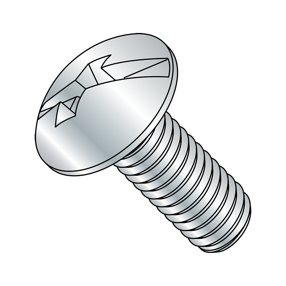 2 Length Fully Threaded #8-32 Thread Size Meets ASME B18.6.3 Imported Steel Truss Head Machine Screw Zinc Plated Finish #2 Combination Phillips//Slotted Drive Pack of 100