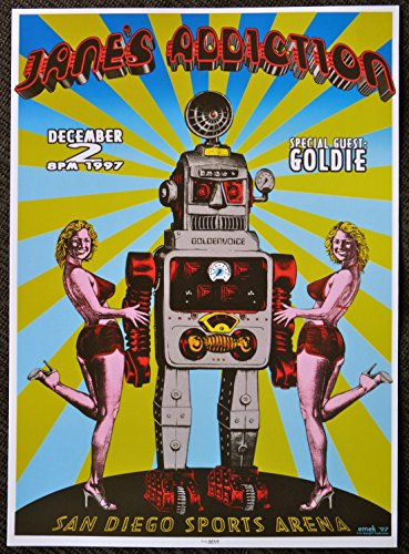 Jane's Addiction - Goldie - Live at San Diego Sports Arena 1997 - Concert Gig Mini Poster