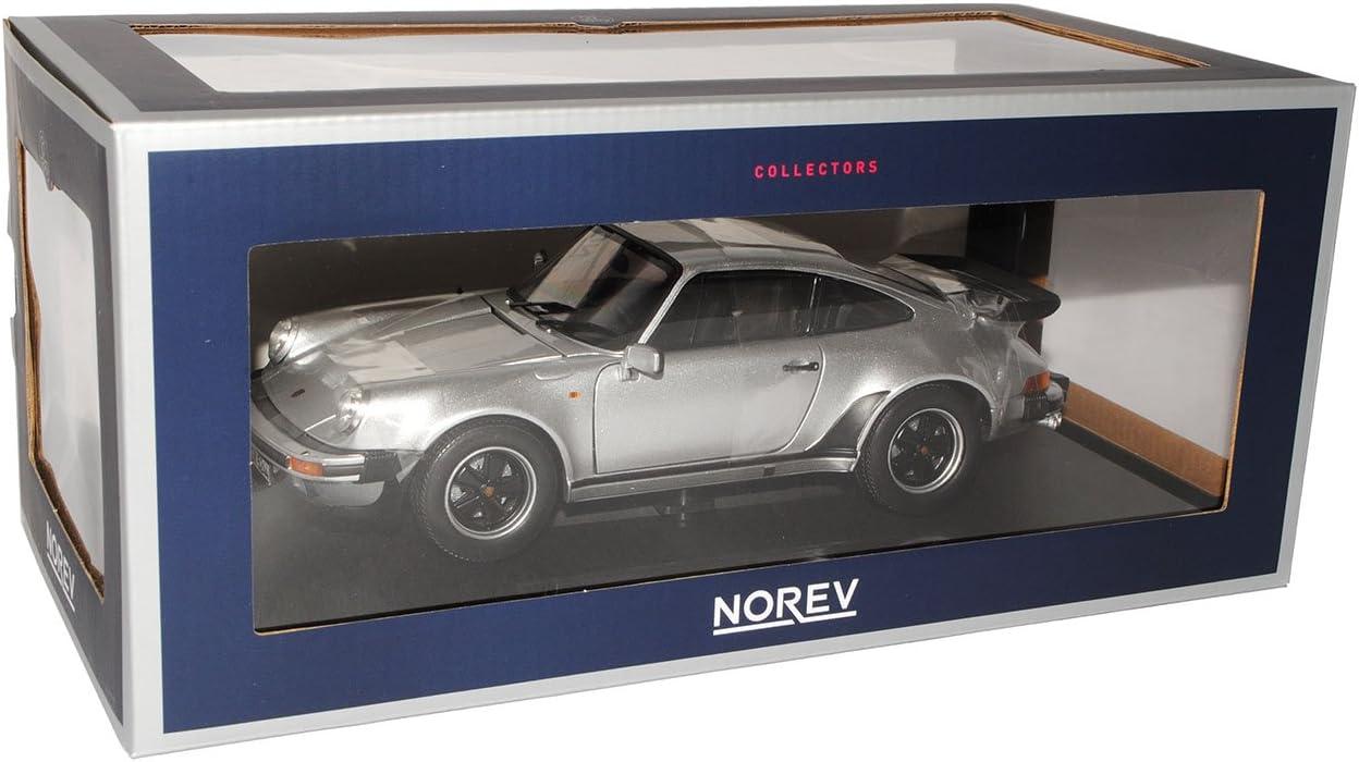 Norev Porsche 911 Turbo 3.3 L Silber Coupe G-Modell 1973-1989 1//18 Modell Auto mit individiuellem Wunschkennzeichen