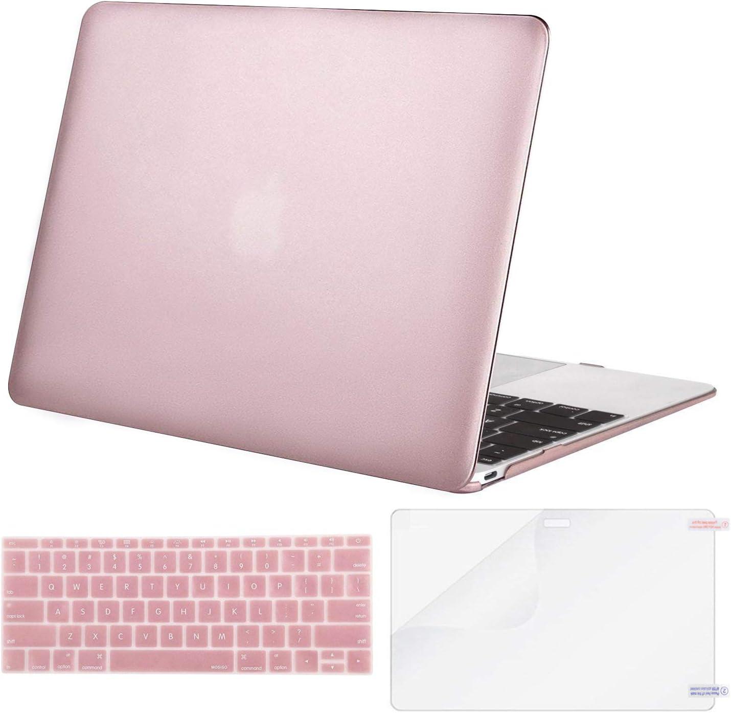 Funda y Protector TecladopPara MacBook 12 A 1534 rosa
