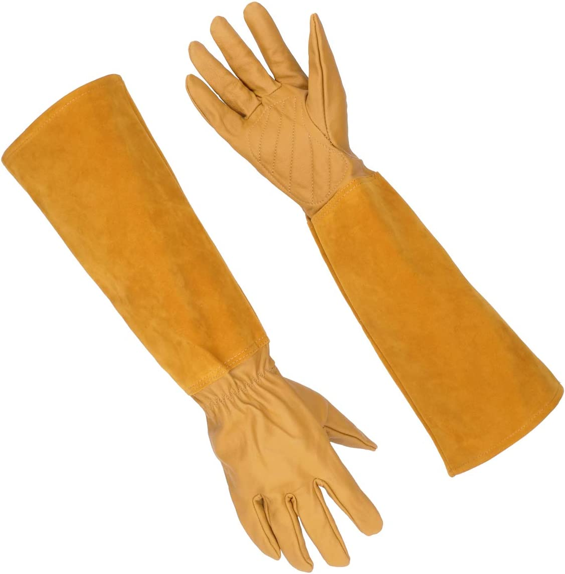 Gardening Gloves for Men and Women, Katfort Rose Pruning Gloves with Long Forearm Protection Garden Gloves Thorn Resistant (Medium)