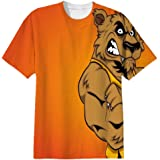 Snoogg Angry Werewolf Cartoon Character Mens Casual All Over Printed T Shirts Tees