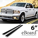 "eBoard Running Boards Aluminum 6"" For 09-16 Dodge Ram 1500/2500/3500 Crew Cab Nerf Bars Step Bars Side Steps"