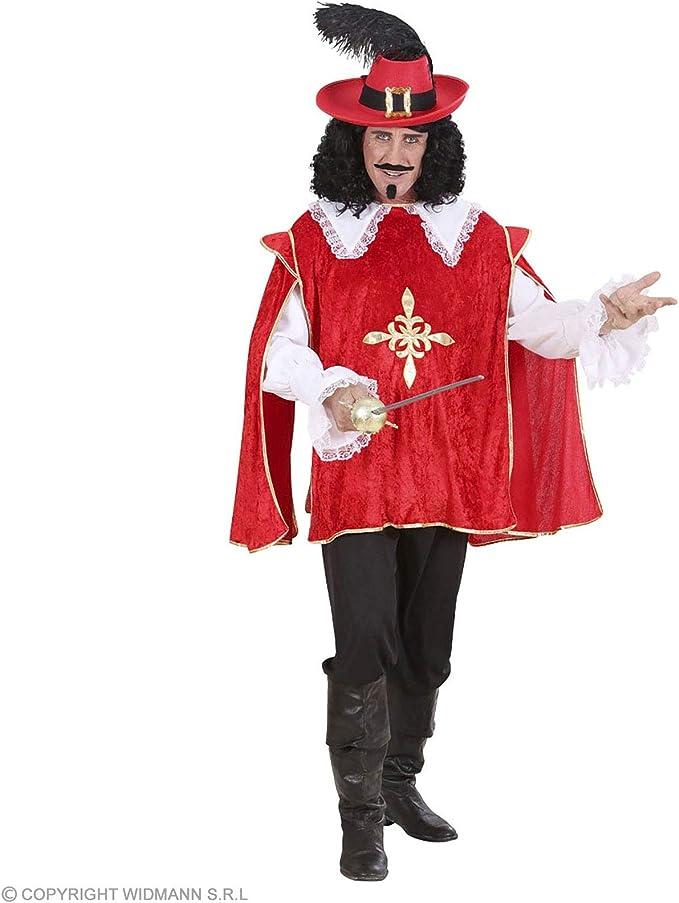 WIDMANN Desconocido Disfraz de Mosquetero Rojo Adulto: Amazon.es ...