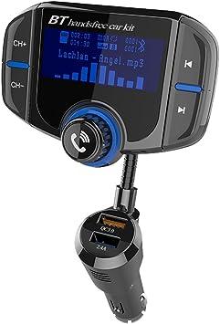 Bluetooth Fm Transmitter 1 7 Zoll Display Kfz Wireless Elektronik