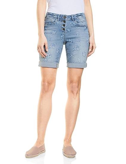 ed91f57937426 Cecil Women's 371291 Scarlett Shorts, Blue (Authentic Used Wash 10317), ...