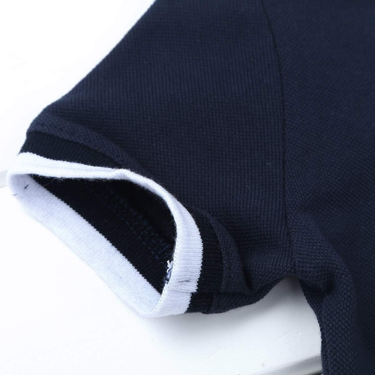 ranrann Camiseta Manga Corta Beb/é Ni/ño Bodis Verano Mameluco de Algod/ón Camisa Reci/én Nacido para Bautizo Fiesta Cumplea/ños Bodysuit Ni/ño 6-24 Meses