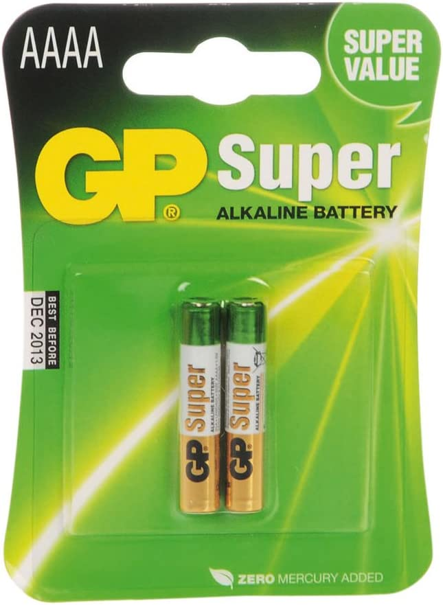 Gp Batteries 25a-c2 Pack of 2 Super Alkaline AAAA Batteries: Home Audio & Theater