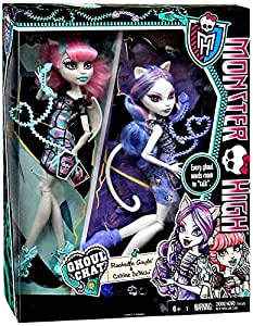 Amazon Com Monster High Ghoul Chat Doll 2 Pack Rochelle