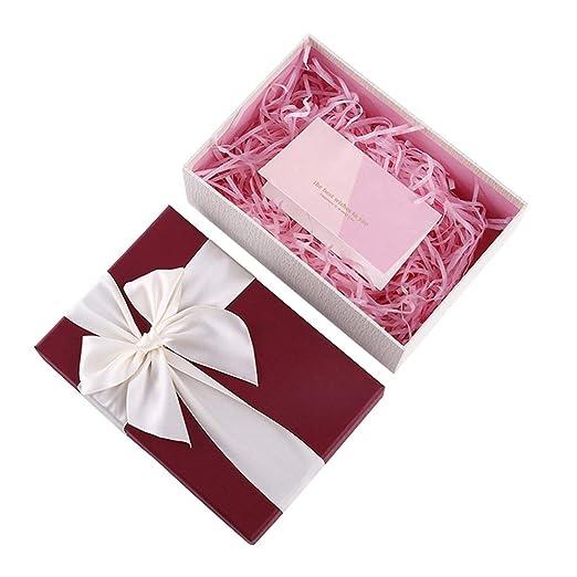 Caja de Regalo de Papel Rojo Cinta decoración de Arco ...