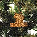 Ornament - Ho Ho Hodor - Raw Wood 4x3in