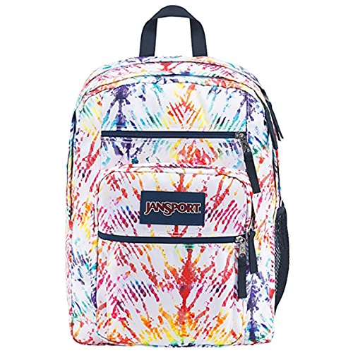 JanSport Big Student Backpack JS00TDN734Q Rainbow Tie Dye (Oversized Jansport Backpack)