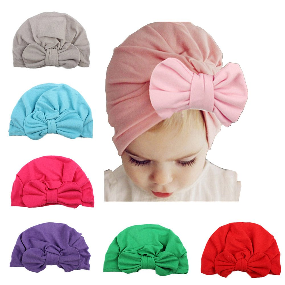 6 Pieces Bewborn Baby Hats Infant Turban Head Wrap Floral Head Cap Yiwu Zhutong E-Commerce CO. Ltd