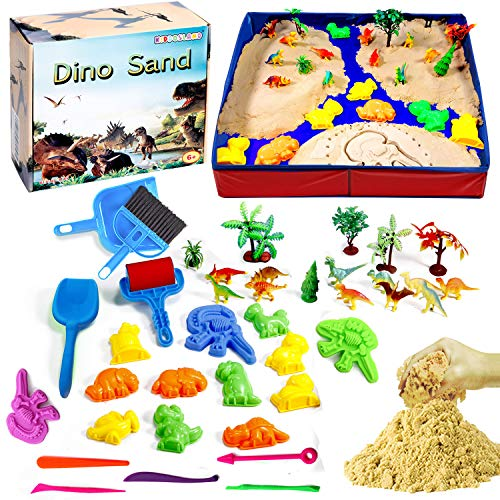 Dino Play Sand Kit for Kids 3lbs