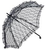 Bristol Novelty - Sombrilla de encaje para disfraz de adulto, color negro