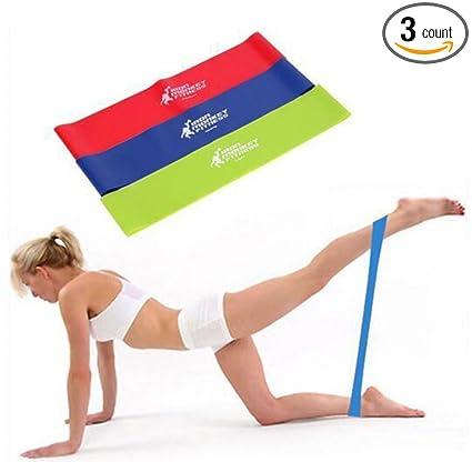 Amazon.com : Yoga Belt, Oldeagle 3PC Resistance Band Loop ...