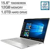 2018 HP Pavilion 15t Full HD(1980x1080) Touscreen Laptop, Intel Core i7-8550U Processor, 12gb Ram, 1TB HDD, Backlit Keyboard, Bluetooth, Wifi, HDMI, Windows 10
