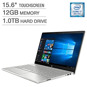 2018 HP Pavilion 15t Full HD(1980x1080) Touscreen Laptop, Intel Core i7-8550U Processor, 12gb Ram, 1TB HDD, Backlit Keyboard, Bluetooth, Wifi, HDMI, Windows 10