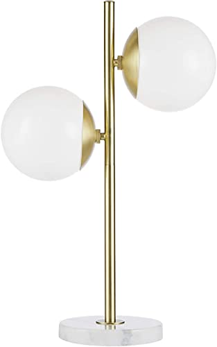 MADISON PARK SIGNATURE Holloway Table Lamp White Gold See Below