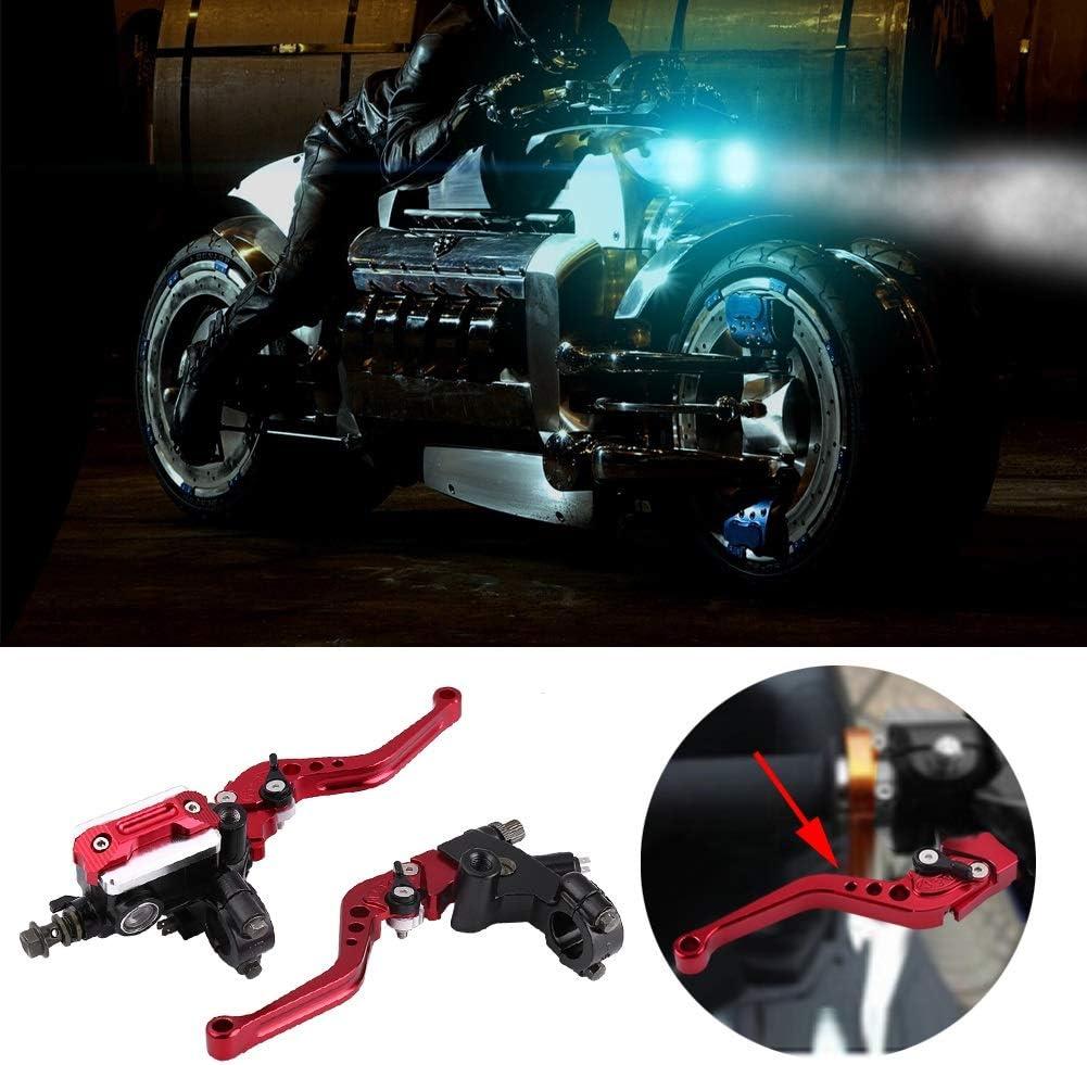 1 paio 7//8 del motociclo universale freno FRIZIONE Reservoir Leve Red 22 millimetri Colore : Arancia Cilindro maestro Leve
